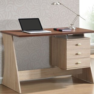 Baxton Studio 3 Drawer Writing Desk