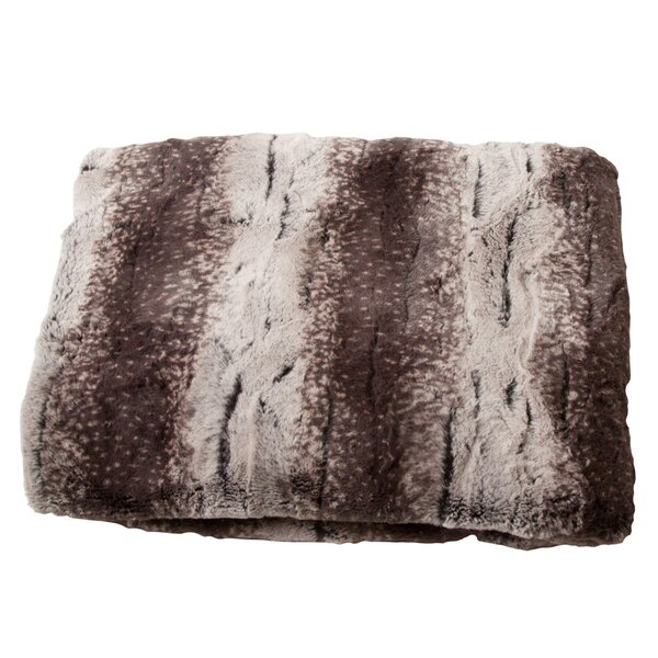 Luxury Striped Mink Faux Fur Polyester Throw Blanket by Posh365