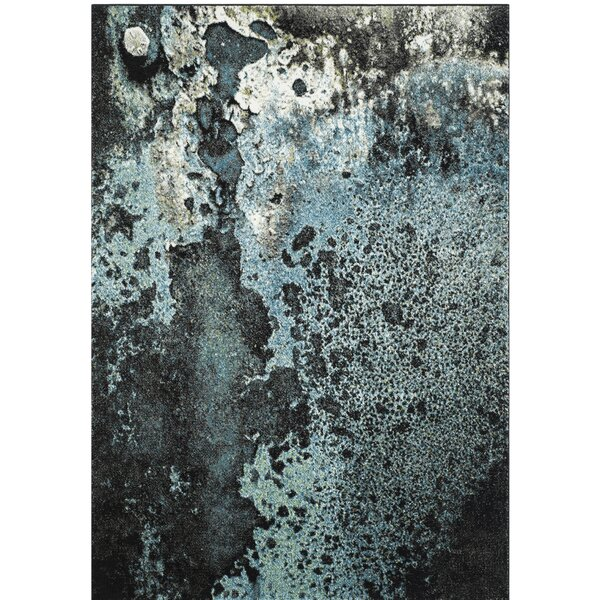 Brodick Blue/Gray Area Rug by Wade Logan