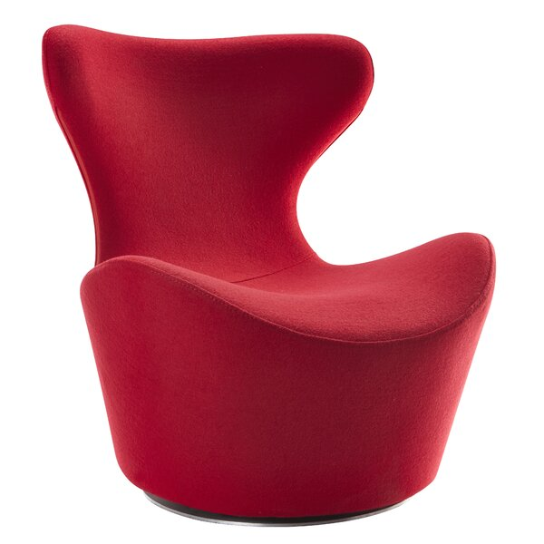 Lucas Swivel Lounge Chair by Wade Logan