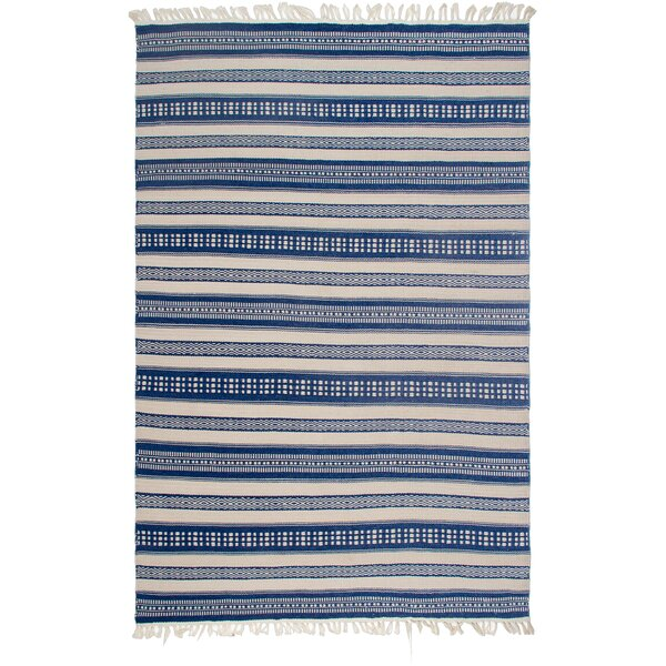 Estate Hand-Woven Blue/White Indoor/Outdoor Area Rug by Fab Habitat