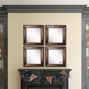 Best Price Derrik Copper Bronze Wall Mirror (Set of 4) ByAstoria Grand