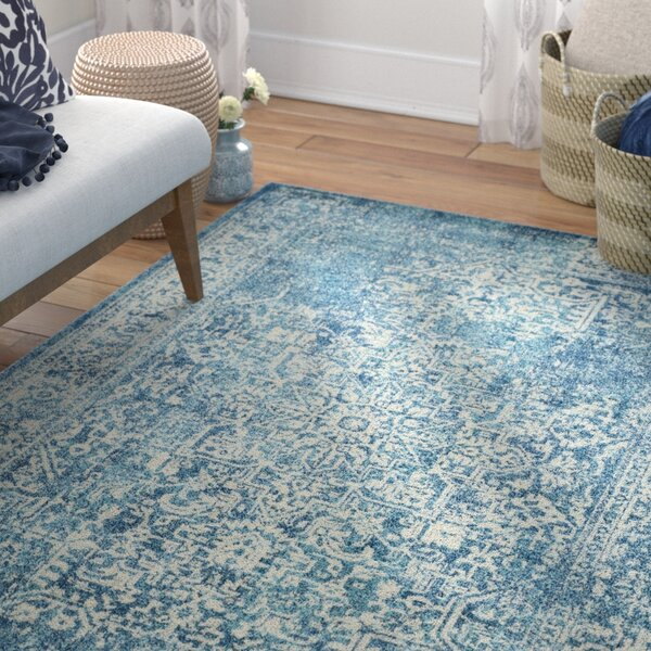 Elson Blue/Ivory Area Rug by Mistana