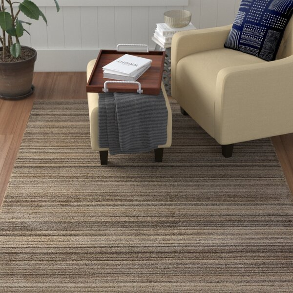 Oliverson Hand-Loomed Creme Brulee/Canteen Solid Area Rug by Winston Porter