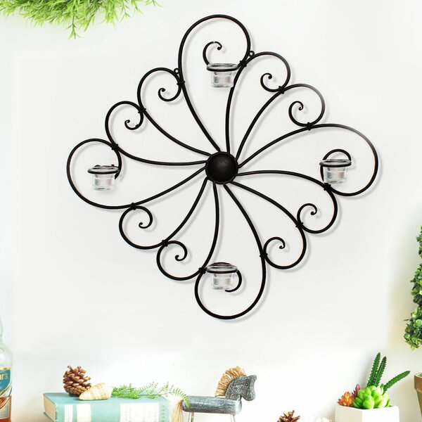 Iron Sconce by Adeco Trading