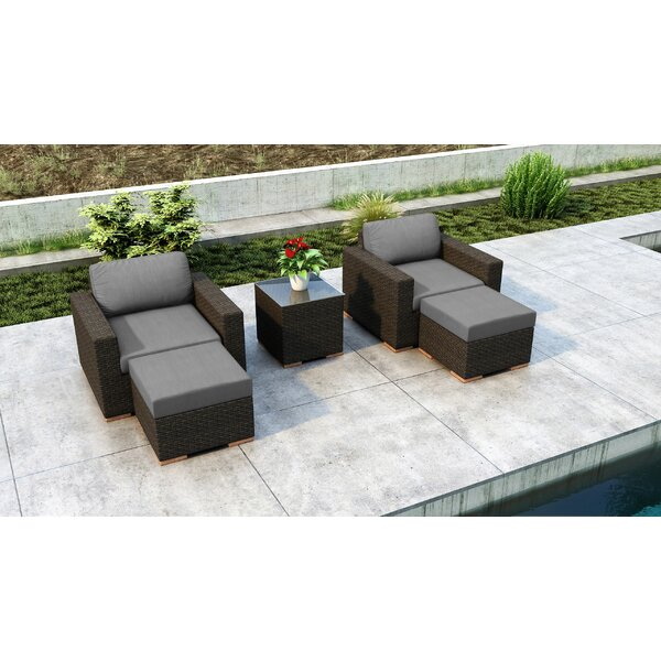Glen Ellyn 5 Piece Seating Group with Cushions by Everly Quinn