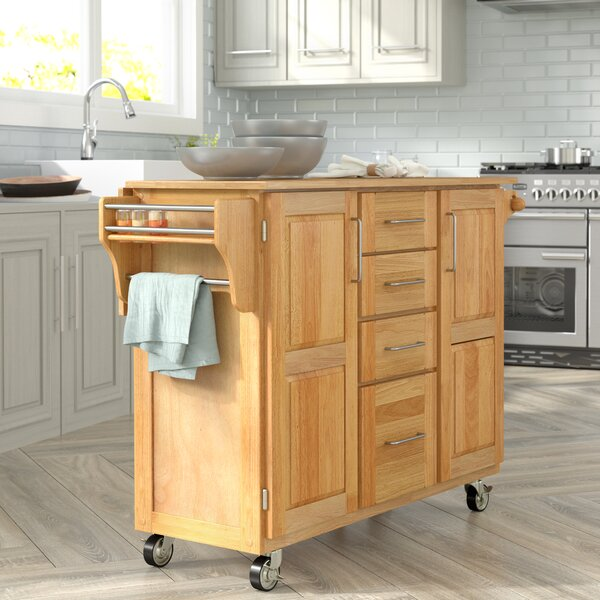 Kennedy Kitchen Island with Wood Top by Laurel Foundry Modern Farmhouse