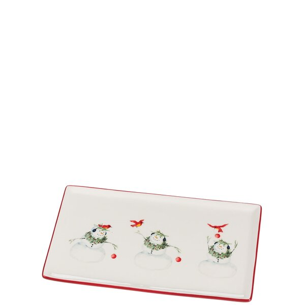Cynthia Dunn Snowman Platter (Set of 2) by The Holiday Aisle