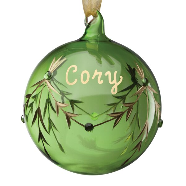 August Birthstone Personalized Ball Ornament by The Holiday Aisle