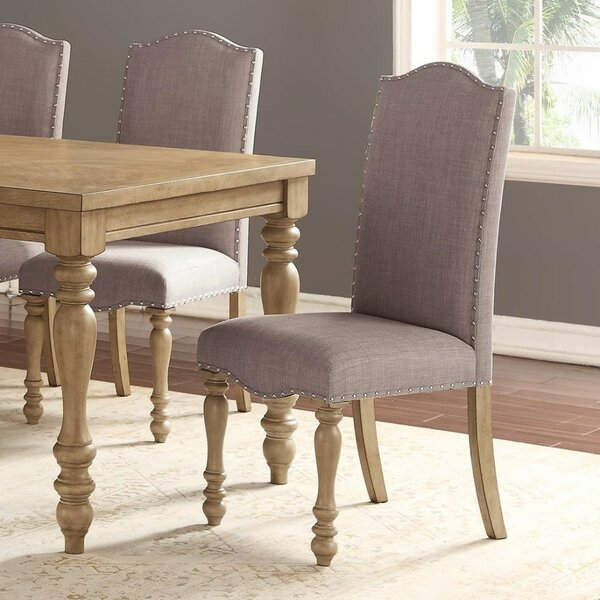Leda Upholstered Dining Chair (Set of 2) by Ophelia & Co.