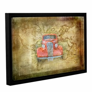 Vintage Car Framed Graphic Art on Wrapped Canvas by Alcott Hill