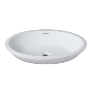 Savings Stone Oval Undermount Bathroom Sink with Overflow By InFurniture
