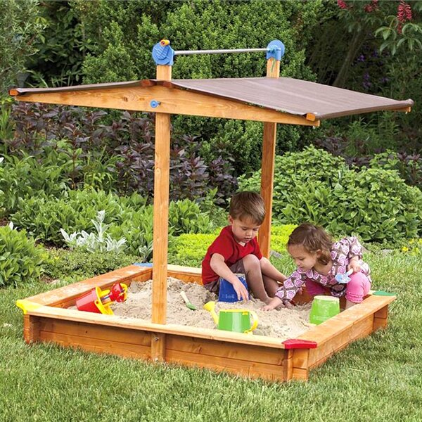 4.67 Square Sandbox with Cover by Tierra Garden