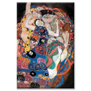 Embrace by Gustave Klimt Painting Print on Canvas by Buyenlarge