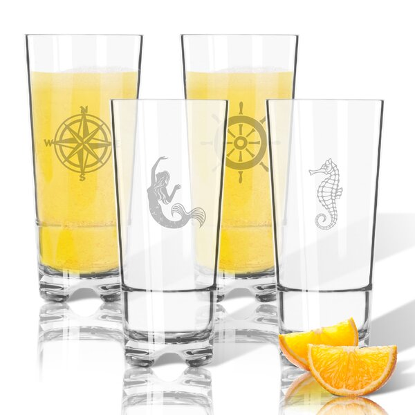 4 Piece Tritan 16 oz. High Ball Glass by Carved Solutions