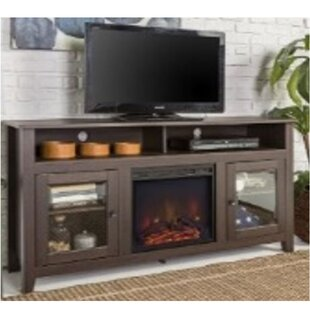 Reviews Josué TV Stand with Electric Fireplace By Red Barrel Studio