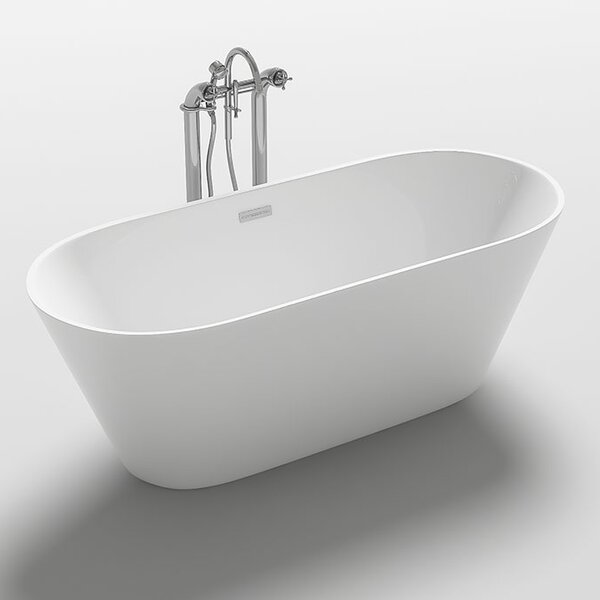 Lugano 67 x 31.5 Freestanding Soaking Bathtub by Kokss