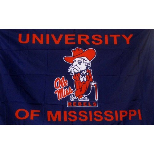 Mississippi Rebels Polyester 3 x 5 ft. Flag by NeoPlex