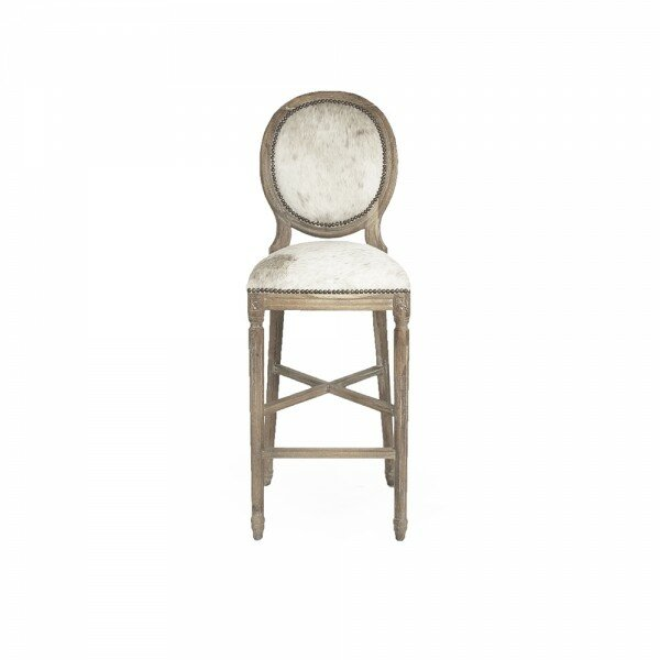 Arvidson Cowhide Bar Stool by One Allium Way