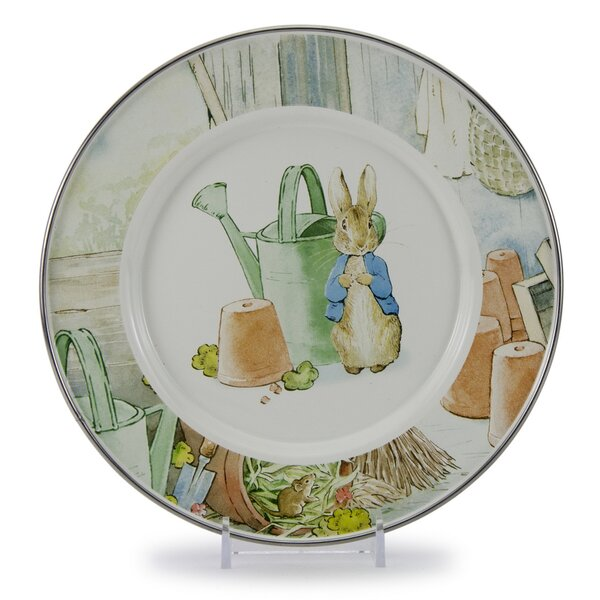 Sewell Peter and Watering Can 8.5 Salad Plate (Set of 4) by August Grove