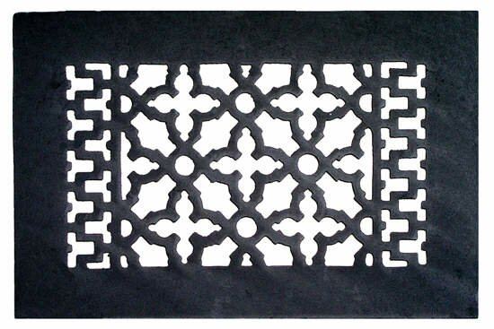 6 x 10 Cast Iron Grille in Black by Acorn