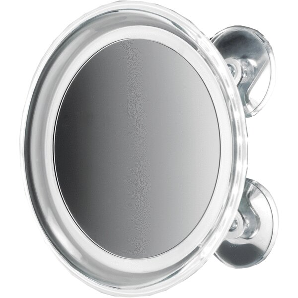 Moresi Round Suction Cup LED Makeup/Shaving Mirror by Winston Porter