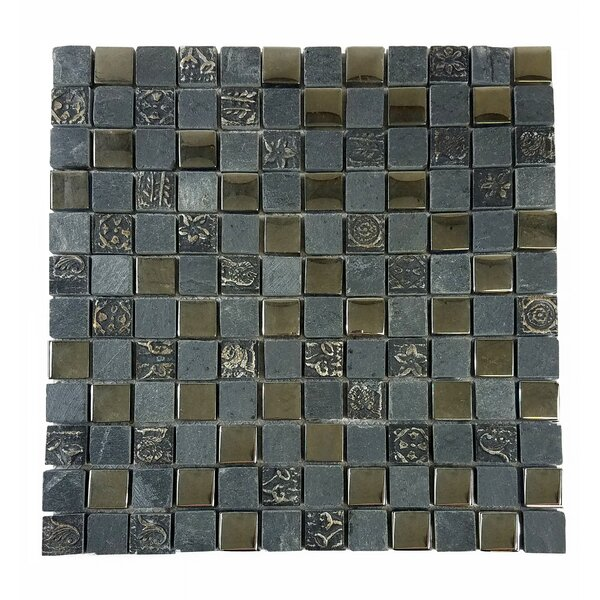 Monarchy 1 x 1 Glass and Stone Mosaic Tile in Grenada by Abolos