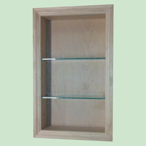Newberry 14 W x 18 H Recessed Shelving by WG Wood Products
