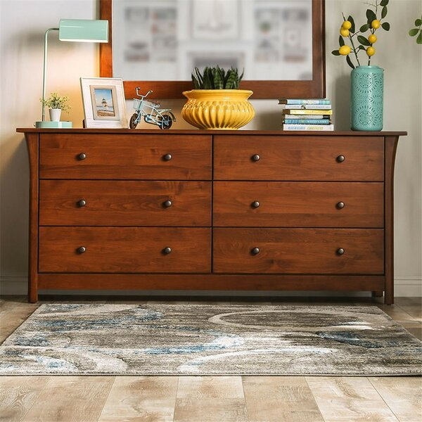 Butters 6 Drawer Double Dresser by Foundry Select