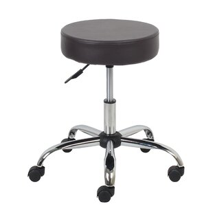 Banker Height Adjustable Stool with Caster Wheels by Orren Ellis