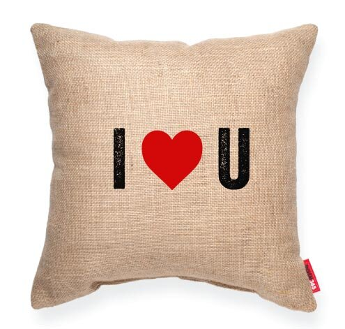 Pettis I Heart U Throw Pillow by Wrought Studio