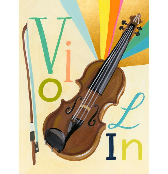 Cudney Musical Melodies Violin by Jessica Allen by Harriet Bee