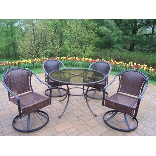 Kingsmill 5 Piece Steel Frame Patio Set By Rosecliff Heights