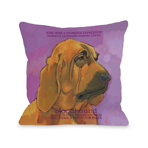 Doggy Décor Bloodhound Throw Pillow by One Bella Casa