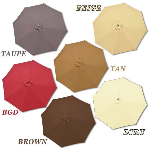 Rosaura Traditional Octagonal Outdoor Garden Parasol Patio Market Umbrella by Darby Home Co