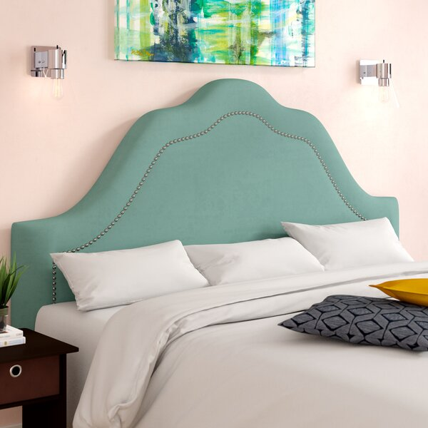 Kermit Arch Inset Nail Button Upholstered Panel Headboard by Willa Arlo Interiors