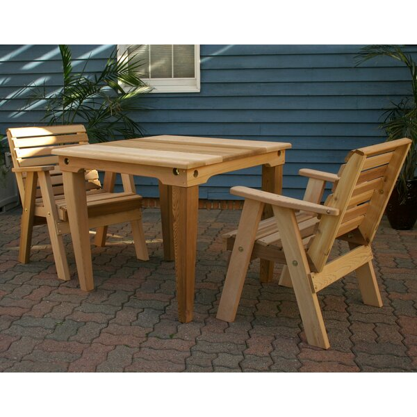 Sabatino 3 Piece Solid Wood Pub Table Set by Breakwater Bay