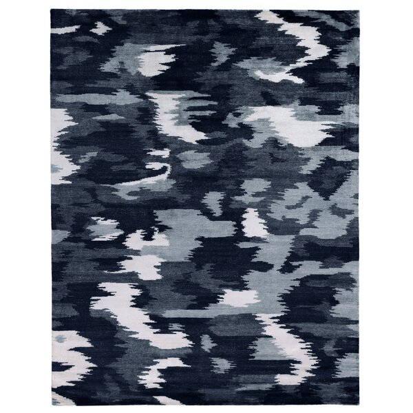 Mintford Hand Knotted Silk Navy Rug
