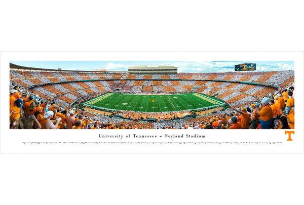 NCAA Tennessee, University of - Football - 50 Yard Line by Robert Pettit Photographic Print by Blakeway Worldwide Panoramas, Inc