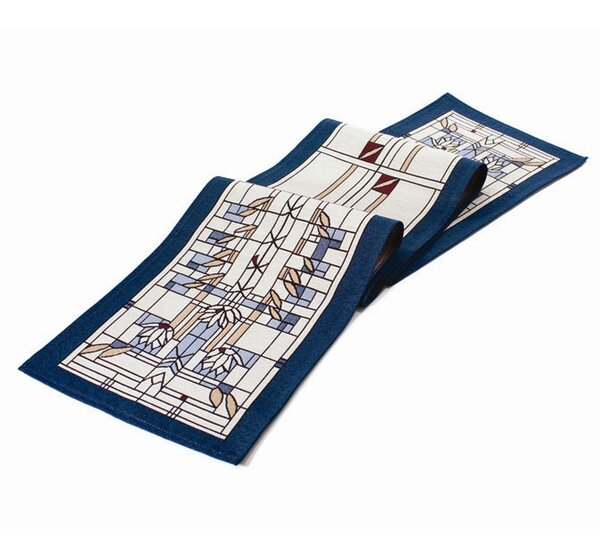 Frank Lloyd Wright ® Waterlilies Table Runner by Rennie & Rose Design Group