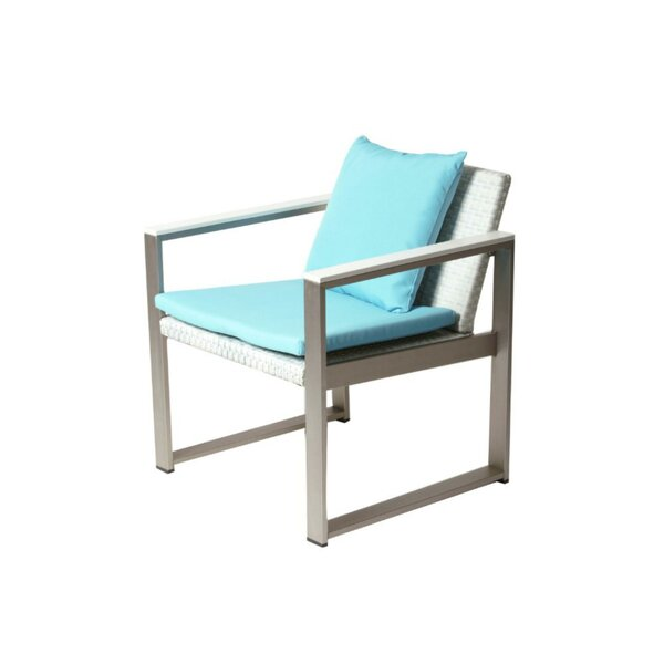 Barnes Impeccably Comfortable Upholstered Aluminum Patio Dining Chair with Cushion by Brayden Studio