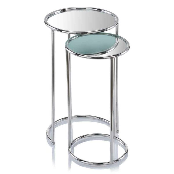 Flavia Mirror 2 Piece Nesting Tables by Orren Ellis