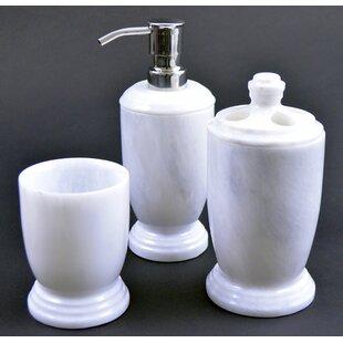 Best Atlantic Marble 3-Piece Bathroom Accessory Set ByNature Home Decor