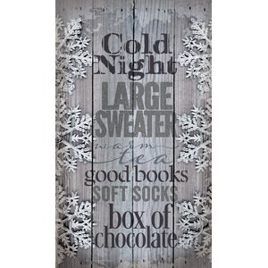 'Cold Night Large Sweater' by Tonya Gunn Textual Art on Plaque by Artistic Reflections
