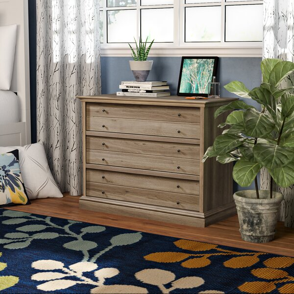 Thao 3 Drawer Standard Dresser by Charlton Home
