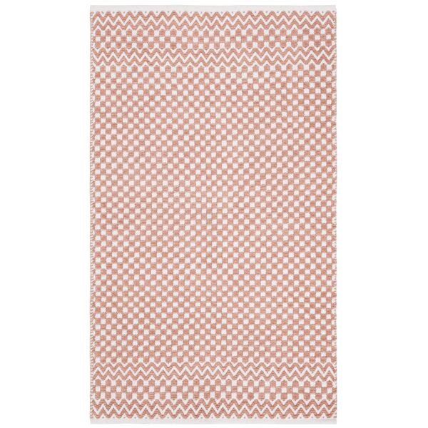 Redbrook Hand-Tufted Cotton Orange Area Rug by Wrought Studio