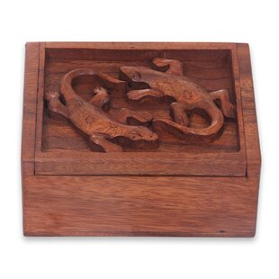 Order Gecko Twins Wood Jewelry Box ByBloomsbury Market