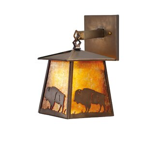 Best Deals Lone Buffalo 1-Light Outdoor Wall Lantern By Meyda Tiffany