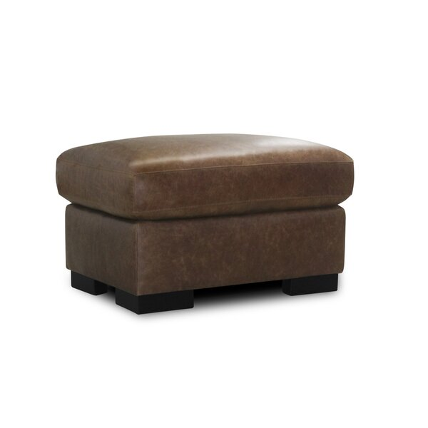 Prestley Leather Ottoman By Latitude Run