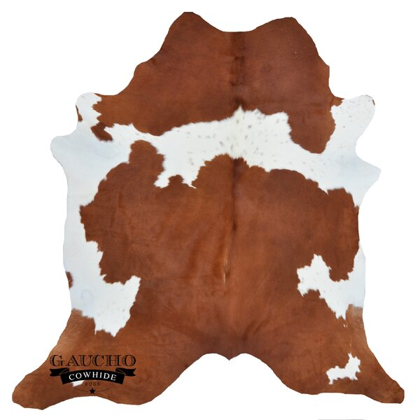 One-of-a-Kind Pinette Brown/White Cowhide Area Rug by Loon Peak